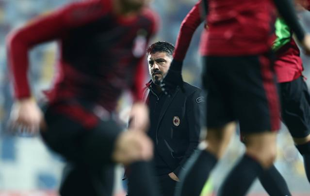 Soccer Football - Europa League - HNK Rijeka vs AC Milan - Stadion HNK Rijeka, Rijeka, Croatia - December 7, 2017 AC Milan coach Gennaro Gattuso before the match REUTERS/Antonio Bronic