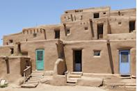 <p>Taos Pueblo was founded as a Native American community nearly 1,000 years ago and 150 people still live there full-time. These adobe residences are a beautiful tribute to the Native American peoples' resourcefulness, tradition, and relationship with nature and offers a glimpse into early American life long before European ships landed ashore or Lewis and Clark headed west. </p>