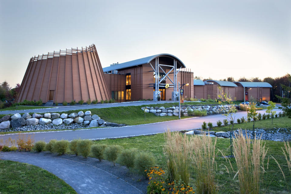 Our digs for the first two nights: The First Nations Museum Hotel in Wendake (Quebec Aboriginal Tourism)