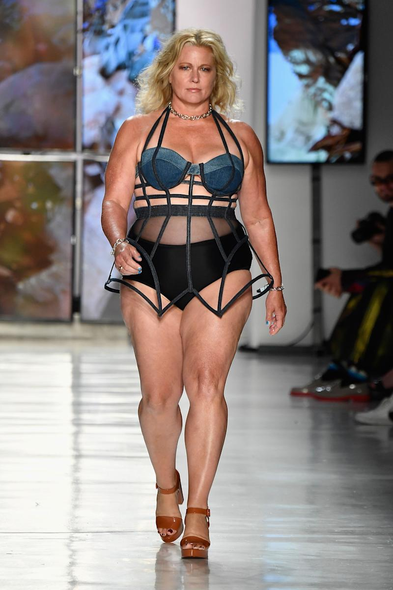 54-year-old model Emme walked at Chromat on Sept. 8 for New York Fashion Week. (Photo: Frazer Harrison via Getty Images)