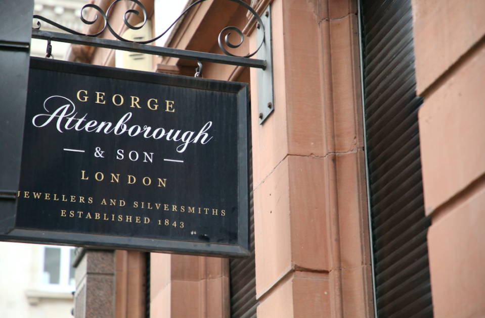 <em>Thieves targeted the George Attenborough and Son Jewellers on Fleet Street (SWNS)</em>