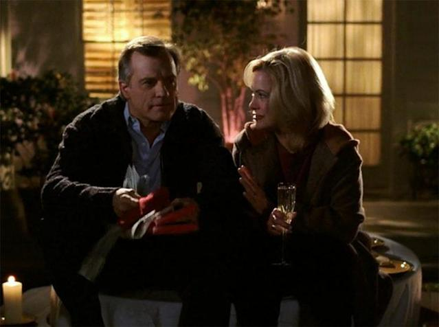 Stephen Collins as the Rev. Eric Camden and Catherine Hicks as Annie Camden in <em>7th Heaven</em>. (Credit: The WB)