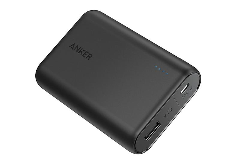 The Anker PowerCore 10000 is one of the smallest and most lightweight power banks on the market. (Photo: Amazon)