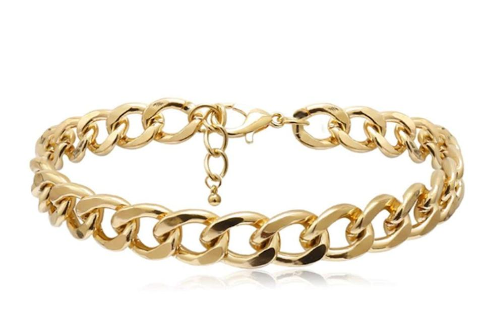 chain anklet, cuban chain anklet, chunky anklet