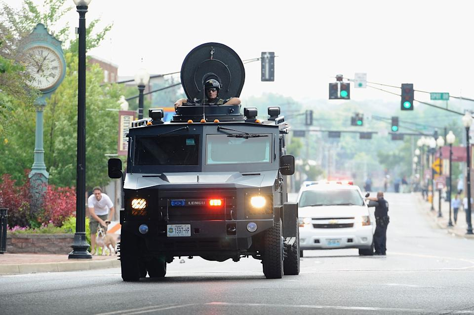 The violent response of law enforcement agencies to the protests that broke out in Ferguson, Missouri, in August 2014 further persuaded Bush of the need for major political change. (Photo: Michael B. Thomas/Getty Images)