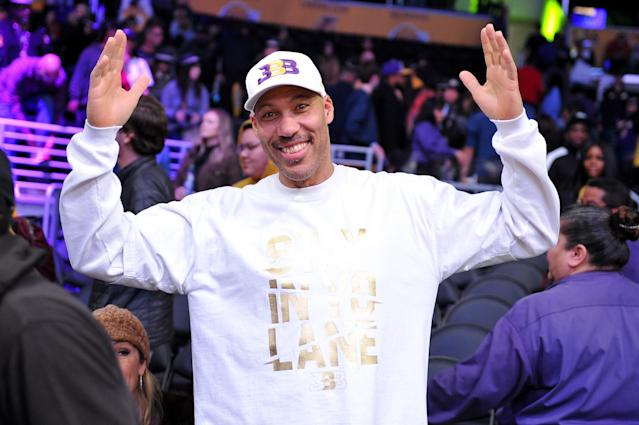 LaVar Ball attends a Lakers-Kings game at Staples Center on Dec. 30, 2018, in Los Angeles. (Photo by Allen Berezovsky/Getty Images)