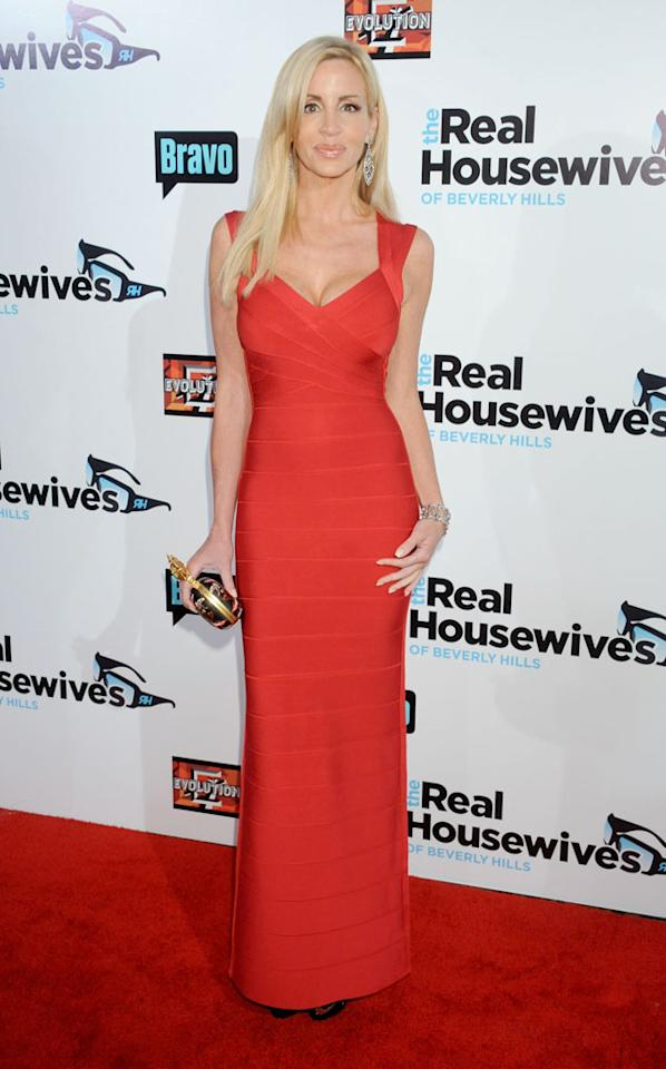 "Camille Grammer arrives at ""The Real Housewives Of Beverly Hills"" Season 3 premiere party at the Hollywood Roosevelt Hotel on October 21, 2012 in Hollywood, California."