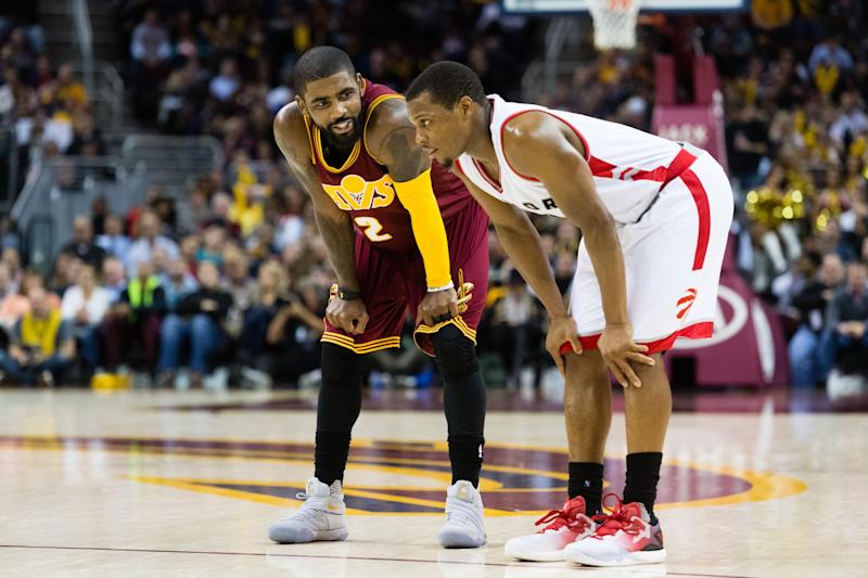 75ec45b5dc8 Kyrie Irving and Kyle Lowry put on a show on Tuesday night. (Getty Images