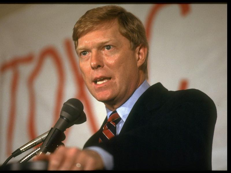 Rep. Dick Gephardt speaking during his campaign for 1988 Democratic presidential nomination.