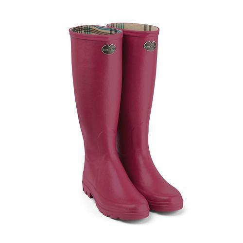 "Autumn has to be my favourite season ever. While it does get dark and gloomy, it also gets very wet and a pair of colourful wellies can really brighten up a grey day. This lightweight, bright pink pair is guaranteed to keep my spirits lifted this season. <br><br><strong>Le Chameau</strong> Women's Iris Wellington Boots, $, available at <a href=""https://www.philipmorrisdirect.co.uk/le-chameau-womens-iris-wellington-boots/?sku=3101106&gclid=EAIaIQobChMIpZeZp4SK7AIVA-d3Ch2CkQYWEAQYASABEgI4nvD_BwE"" rel=""nofollow noopener"" target=""_blank"" data-ylk=""slk:Philip Morris Direct"" class=""link rapid-noclick-resp"">Philip Morris Direct</a>"