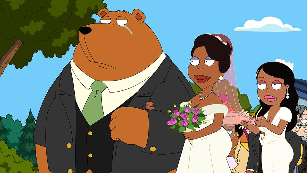 "Donna and Cleveland renew their wedding vows in the all-new ""Here Comes the Bribe"" episode of ""The Cleveland Show"" airing Sunday, Feb. 10 (7:30-8:00 PM ET/PT) on FOX."