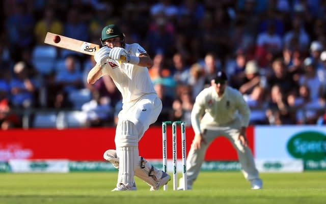 Marnus Labuschagne starred with the bat once again for Australia (Mike Egerton/PA)
