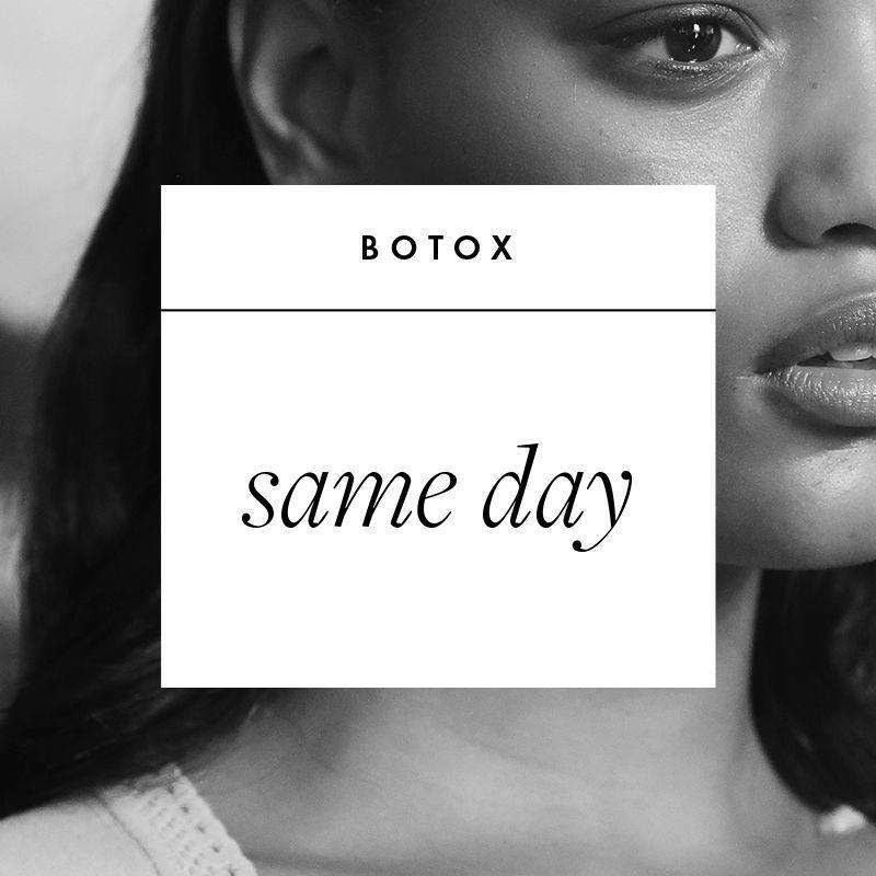 <p><strong>What It Is: </strong>an injectable neurotoxin that smooths fine lines, wrinkles in the forehead, and crow's feet by temporarily paralyzing muscles.</p><p><strong>Book Your Date:</strong> the same day. Both Garritano and Dr. Idriss agree that bruising from Botox injections is unlikely and since you won't see results in terms of facial movements for about a week, you are in the clear to go out immediately after your appointment. Garritano recommends icing any bumps that may occur at the injection sites, then touching up with concealer before leaving the office. </p>