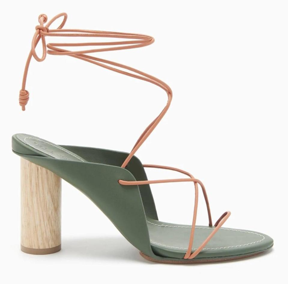 "<p>We love this blend of a lace-up front with a sturdy heel. </p> <p><a href=""https://www.popsugar.com/buy/Ulla-Johnson-Roxie-Heel-573302?p_name=Ulla%20Johnson%20Roxie%20Heel&retailer=ullajohnson.com&pid=573302&price=395&evar1=fab%3Aus&evar9=47446893&evar98=https%3A%2F%2Fwww.popsugar.com%2Ffashion%2Fphoto-gallery%2F47446893%2Fimage%2F47463290%2FUlla-Johnson-Roxie-Heel&list1=sandals%2Cshoes%2Ctrends%2Csummer%2Cfashion%20shopping&prop13=api&pdata=1"" class=""link rapid-noclick-resp"" rel=""nofollow noopener"" target=""_blank"" data-ylk=""slk:Ulla Johnson Roxie Heel"">Ulla Johnson Roxie Heel</a> ($395)</p>"