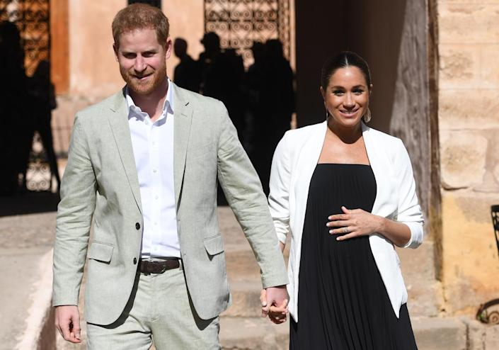 The Duke and Duchess of Sussex will welcome their first child in spring 2019 [Photo: Getty]