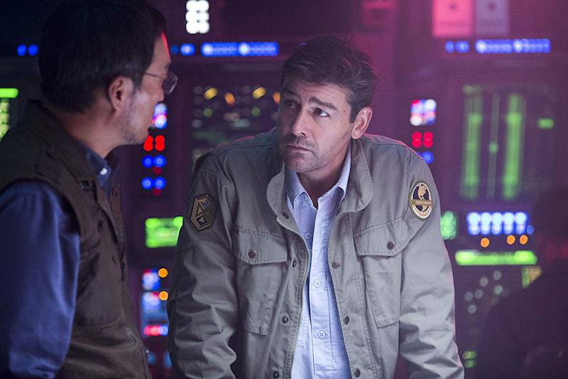 Kyle Chandler and Ken Watanabe in Godzilla: King of the Monsters, which was produced by Blackhall Studios. (Warner Bros/Entertainment/Legendary Pictures Funding/Ratpac-Dune Entertainment)