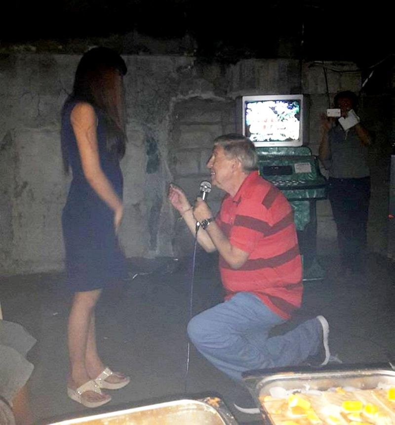 Ron Sheppard proposed to Cristel Lalec on New Year's Eve in 2015 (Picture: SWNS)