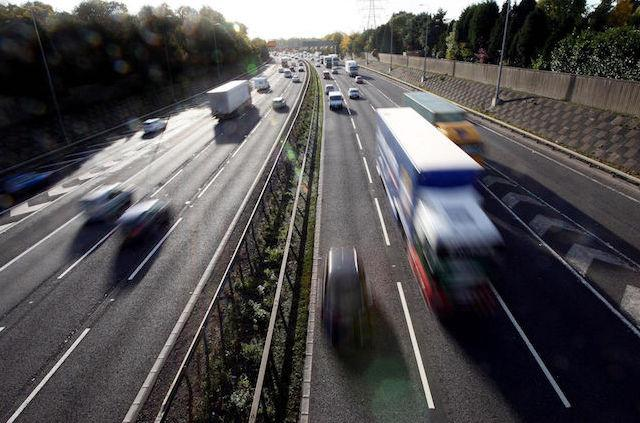 File photo dated 27/10/10 of traffic on a motorway, as new data shows that the number of UK holidaymakers investigated for traffic offences overseas has soared.