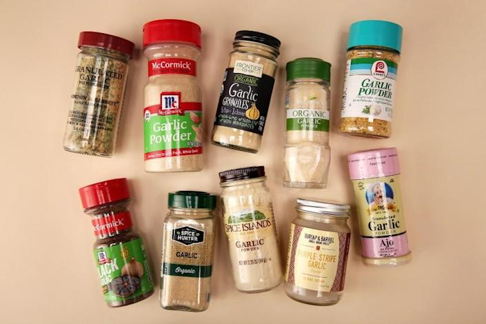 LOS ANGELES, CA - SEPTEMBER 11: Different garlic powders are seen in Mar Vista on Friday, Sept. 11, 2020 in Los Angeles, CA. (Dania Maxwell / Los Angeles Times)
