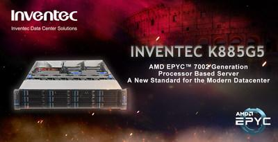 INVENTEC K885G5: a high-performance 2U server system based on dual-socket 7nm AMD EPYC™ 7002 Series Processors
