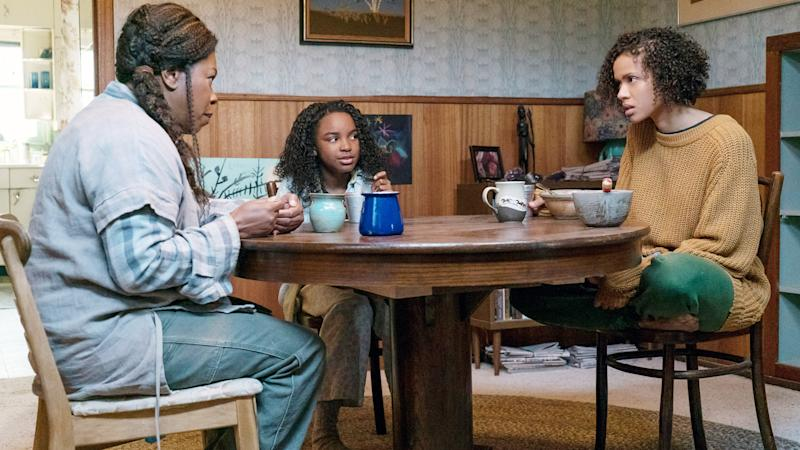 Lorraine Toussaint, Saniyya Sidney and Gugu Mbatha-Raw in 'Fast Color' (Photo: Jacob Yakob / © Codeblack Films / courtesy Everett Collection)