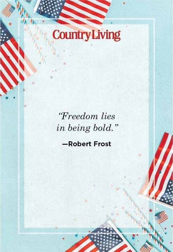 """<p>""""Freedom lies in being bold.""""</p>"""