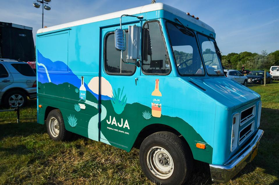 """<div class=""""caption""""> FuckJerry's artisanal tequila truck at the scene of the crime. </div> <cite class=""""credit"""">Kevin Mazur / Getty Images</cite>"""