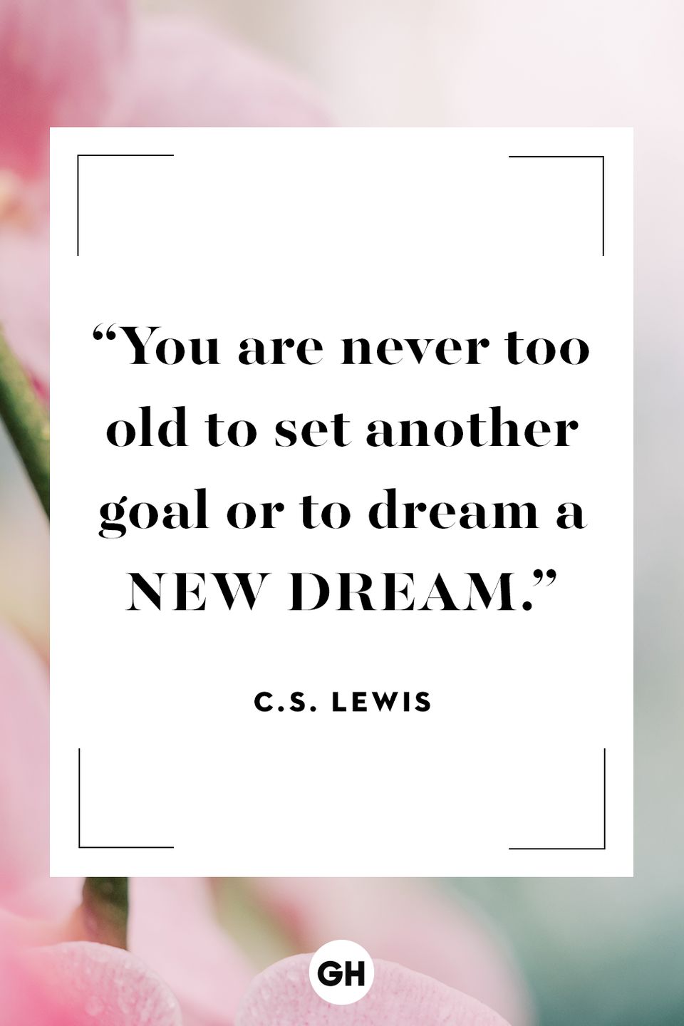 <p>You are never too old to set another goal or to dream a new dream. </p>