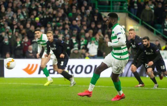 Celtic's Odsonne Edouard is wanted by Manchester United and Arsenal (Jeff Holmes/PA)
