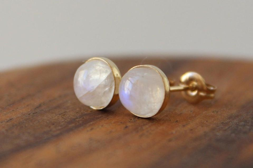 <p>Colorful <span>Moonstone Studs</span> ($40, originally $44) will match any outfit.</p>
