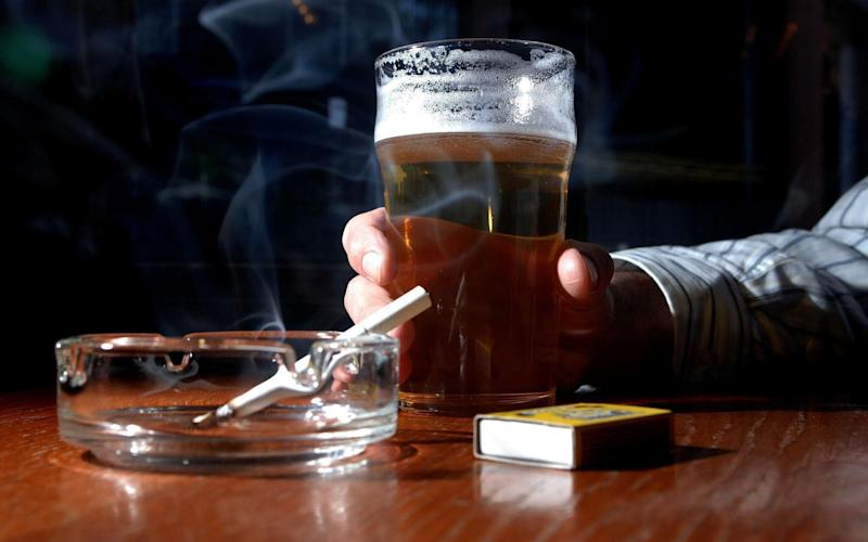 Men are more likely to engage in risky behaviour such as smoking and drinking - PA