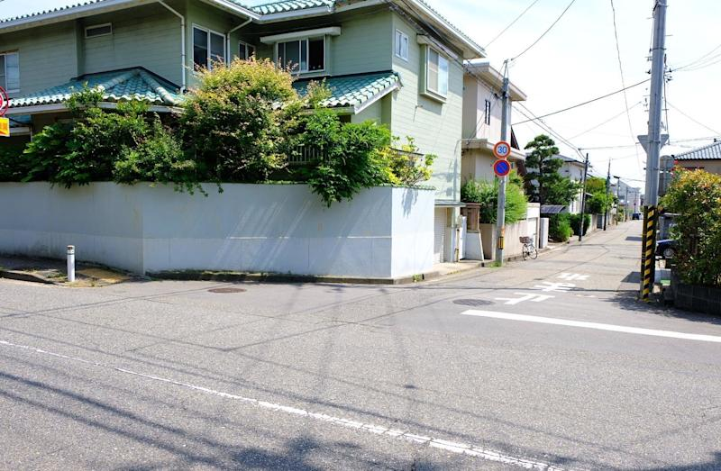 This is the intersection where police dogs lost Megumi Yokota's trail. A short walk down the alleyway is the Yokotas' former home. (Nick Robins-Early)