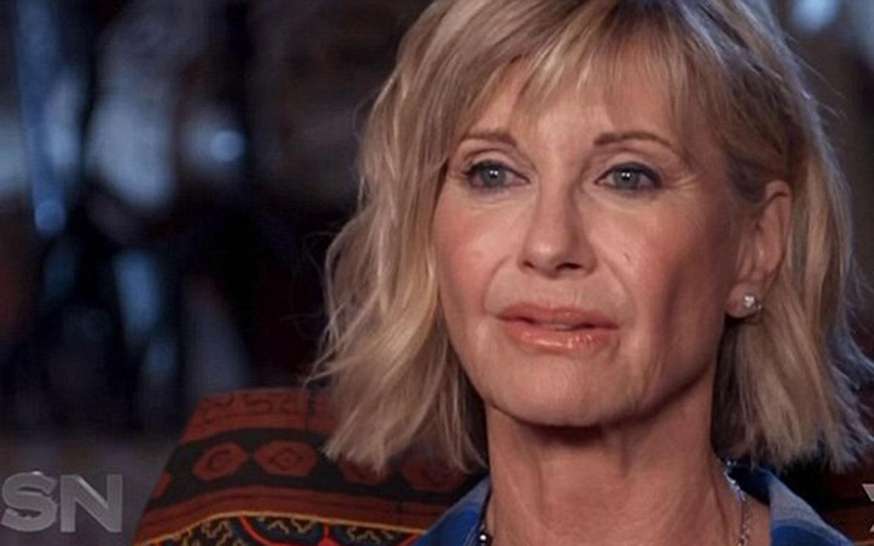 Olivia Newton-John has revealed she has cancer for a third time. (Photo: Channel Seven/Sunday Night)