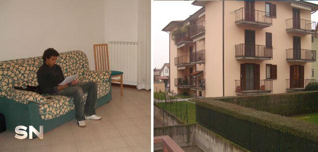 Daniel moved to Italy for his first taste of pro racing, into this humble apartment.
