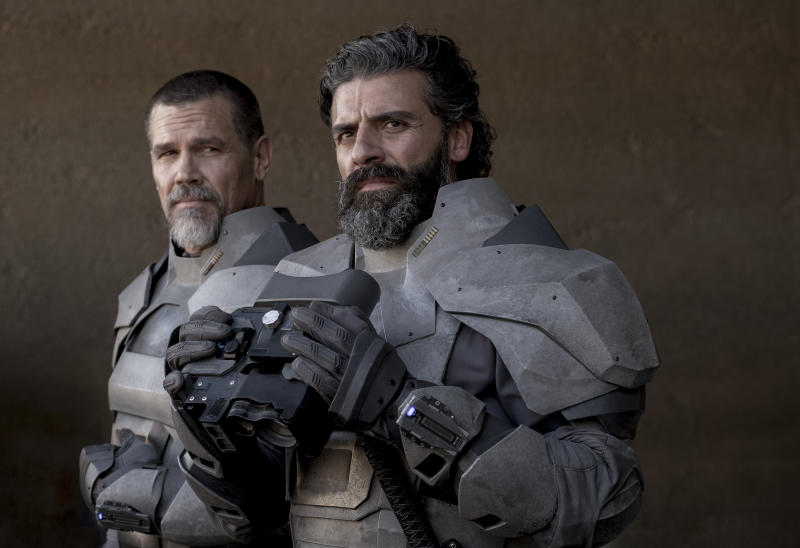 Josh Brolin and Oscar Isaac in a still from Denis Villeneuve's adaptation of Frank Herbert's Dune. (Warner Bros.)