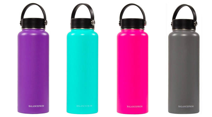 BalanceFrom Double-Wall Vacuum Insulated Stainless Steel Water Bottle (Photo: Amazon)