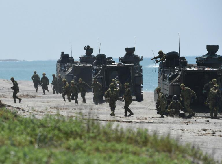 Japanese Ground Self-Defense Forces have been involved in joint exercises with the US and Filipino troops