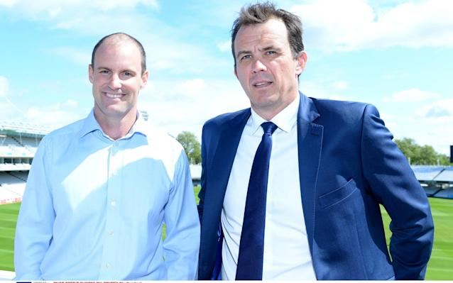 <span>Andrew Strauss and Tom Harrison</span> <span>Credit: Rex Features </span>