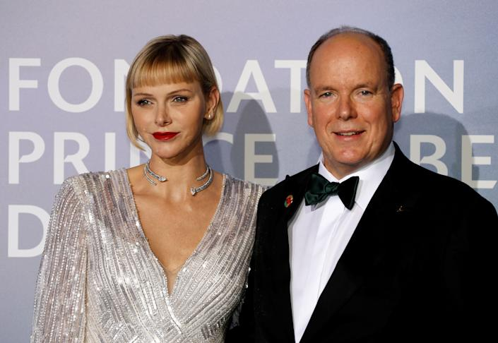 Princess Charlene wore her hair in a bob with blunt bangs in SeptemberPOOL/AFP via Getty Images
