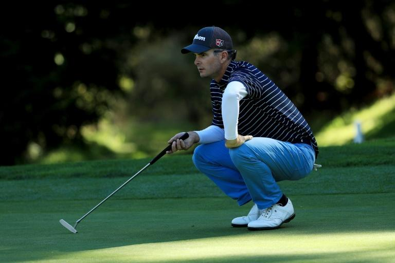 Kevin Streelman of the US lines up a putt on the 16th green during round one of the AT&T Pebble Beach Pro-Am, at Spyglass Hill Golf Course in California, on February 8, 2018