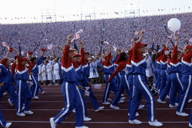 After an eight-year wait, the United States was back at the Summer Olympics in Los Angeles. (Walt Disney Television via Getty Images)