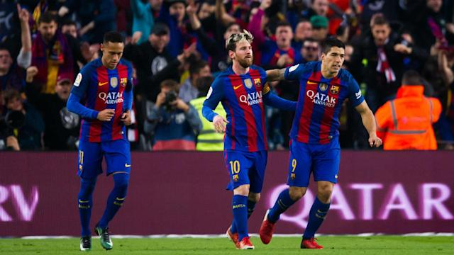 Giorgio Chiellini has warned Juventus that Barcelona trio Lionel Messi, Luis Suarez and Neymar remain a major threat.