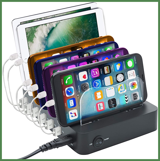 For Prime members only: Save $6.50 on this GiGAWOOD Six-Device Charging Station Dock. (Photo: Amazon)