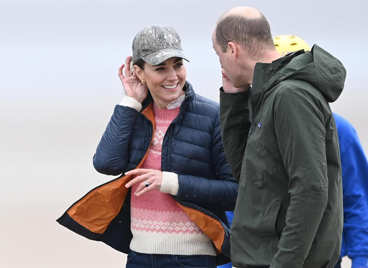 ST ANDREWS, SCOTLAND - MAY 26: Prince William, Duke of Cambridge and Catherine, Duchess of Cambridge join young carers from Fife for a session of Land Yachting on May 26, 2021 in St Andrews, Scotland. (Photo by UK Press Pool/UK Press via Getty Images)