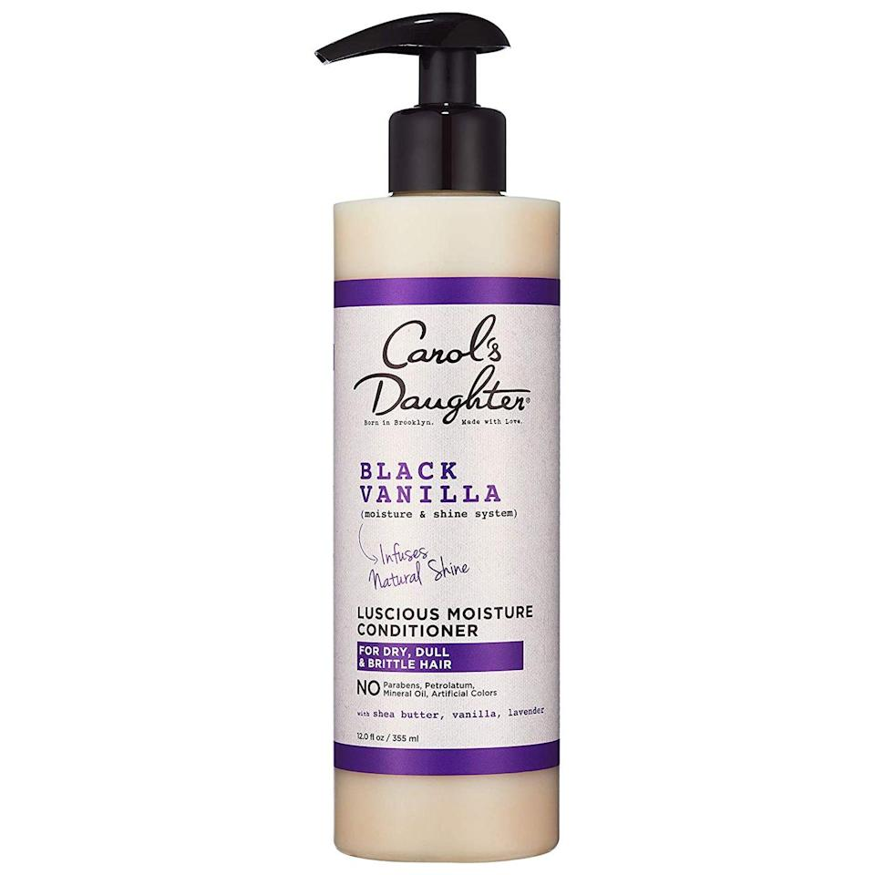 """<p>This everyday conditioner will leave your hair smelling yummy and feeling soft. Infused with Black Vanilla this is the perfect way to fight brittle and dry ends while giving your hair some added shine. </p><p><a class=""""link rapid-noclick-resp"""" href=""""https://www.amazon.com/Carols-Daughter-Moisture-Hydrating-Conditioner/dp/B00JLNQBFK?tag=syn-yahoo-20&ascsubtag=%5Bartid%7C10065.g.37036119%5Bsrc%7Cyahoo-us"""" rel=""""nofollow noopener"""" target=""""_blank"""" data-ylk=""""slk:Shop Now"""">Shop Now</a> </p>"""