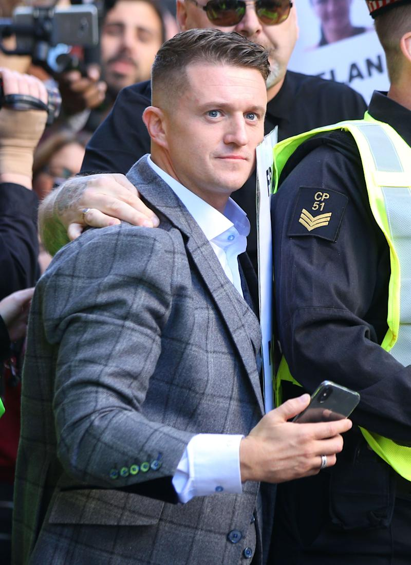 <strong>Tommy Robinson, whose real name is Stephen Yaxley-Lennon, is currently banned from entering America.&nbsp;</strong> (Photo: Press Association)