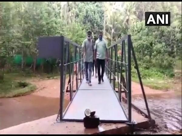 The bridge built by villagers in Mogra. (Photo/ANI)