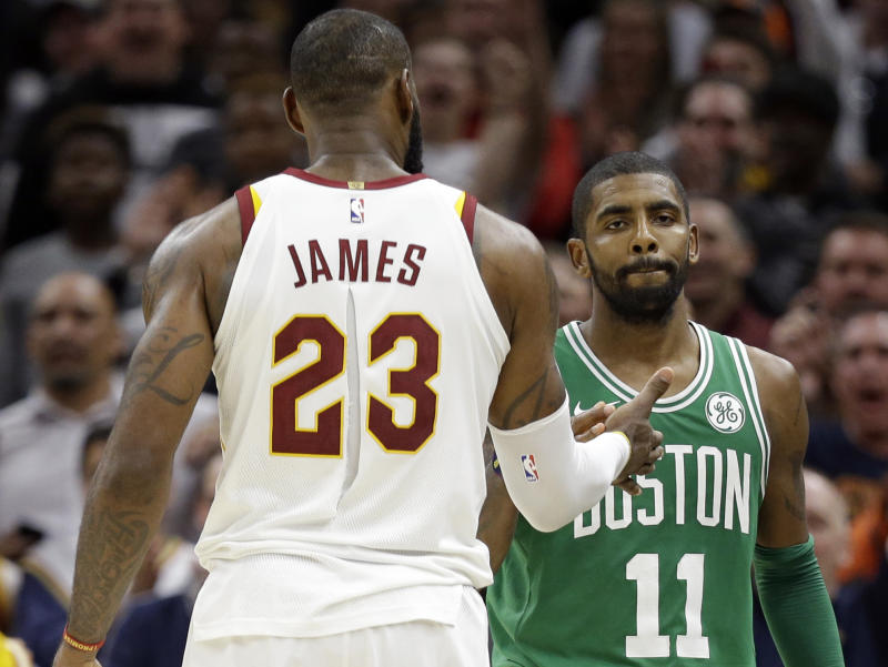 006cfde54dc Did an unrequited high-five fuel the Kyrie-LeBron feud