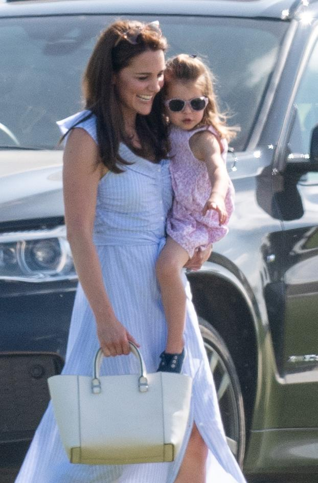 The Duchess and Princess Charlotte made one stylish pair in their summer attire [Photo: Getty]