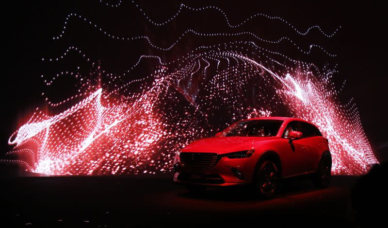 Mazda Motor Corp CX-3 compact crossover SUV is seen during a news conference in Tokyo